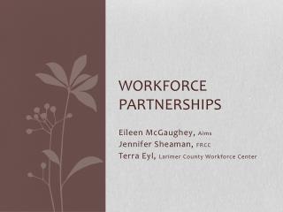 Workforce Partnerships