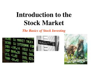 Introduction to the  Stock Market