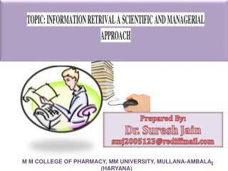 Prepared By:  Dr. Suresh  Jain smj2005123@rediffmail