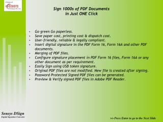 Sign 1000s of PDF Documents  in Just ONE Click