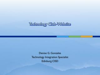 Technology Club- Website