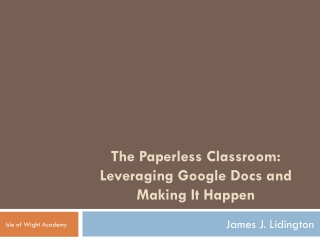 The Paperless University