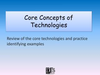 Core Concepts of Technologies