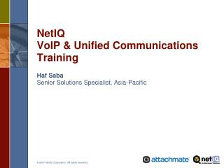 NetIQ  VoIP & Unified Communications Training