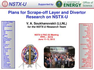 Plans  for  Scrape -off Layer and Divertor  Research on NSTX-U