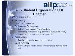 a it p  Student Organization USI Chapter