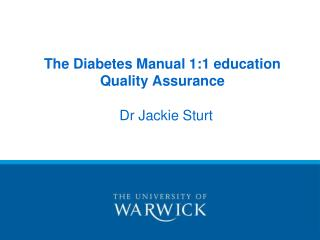 The Diabetes Manual 1:1 education  Quality Assurance