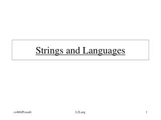 Strings and Languages