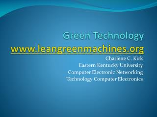 Green Technology leangreenmachines