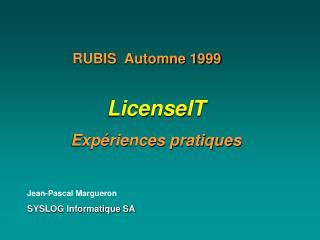 Jean-Pascal Margueron SYSLOG Informatique SA