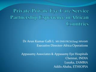 Private-Private Eye Care Service Partnership Experience in African Countries