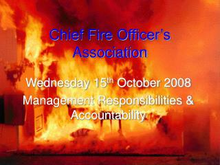 Chief Fire Officer�s Association