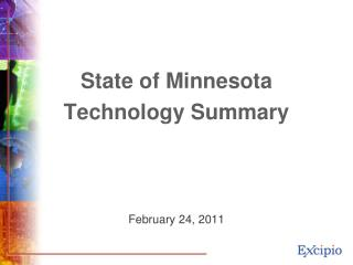 State of Minnesota Technology Summary