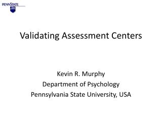 Validating Assessment Centers