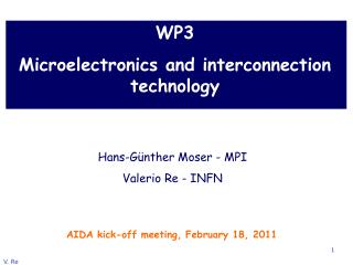 WP3  Microelectronics and interconnection technology