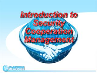Introduction to Security Cooperation Management