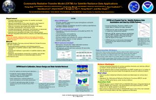 Community Radiative Transfer Model (CRTM) for Satellite Radiance Data Applications