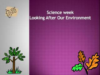 Science week Looking After Our Environment