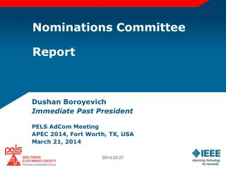 Nominations Committee Report
