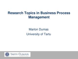 Research Topics in Business Process Management