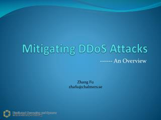 Mitigating DDoS  Attacks