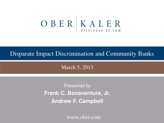 Disparate Impact Discrimination and Community Banks