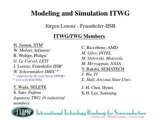 Modeling and Simulation ITWG Jürgen Lorenz - Fraunhofer-IISB