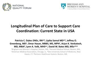 Longitudinal Plan of Care to Support Care Coordination: Current State in USA