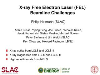 X-ray Free Electron Laser (FEL) Beamline Challenges