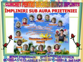 CLINCHET PENTRU BUCURIA MUNCII IMPLINITE