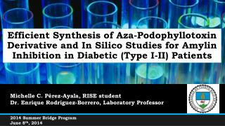 M ichelle  C. Pérez-Ayala, RISE student Dr. Enrique  Rodr í guez-Borrero ,  Laboratory  Professor