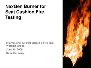 NexGen Burner for Seat Cushion Fire Testing