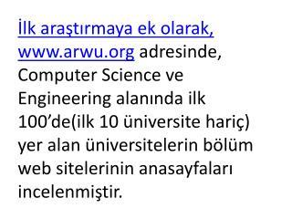 Araştırmada Yer Alan  Üniversiteler-1