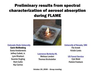 Preliminary results from spectral characterization of aerosol absorption during FLAME