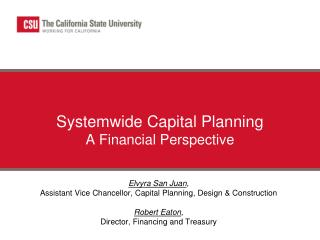Systemwide Capital Planning A Financial Perspective