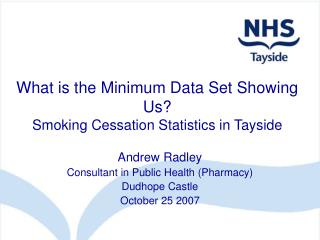 What is the Minimum Data Set Showing Us Smoking Cessation Statistics in Tayside