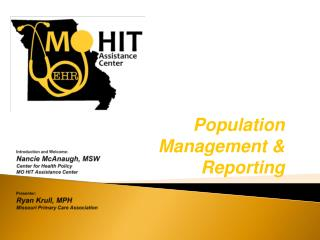 Population Management & Reporting