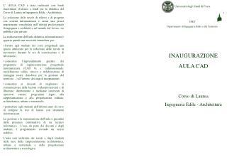 Università degli Studi di Pavia  DIET Dipartimento di Ingegneria Edile e del Territorio
