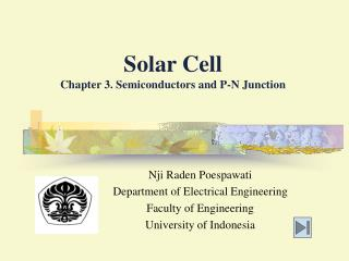 Solar Cell Chapter 3. Semiconductors and P-N Junction
