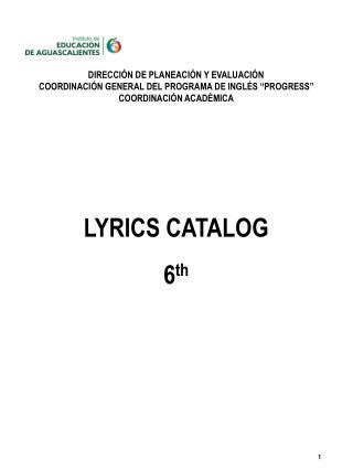 """DIRECCIÓN DE PLANEACIÓN Y EVALUACIÓN COORDINACIÓN GENERAL DEL PROGRAMA DE INGLÉS """"PROGRESS"""""""
