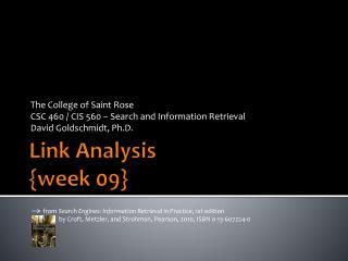 Link Analysis {week 09}