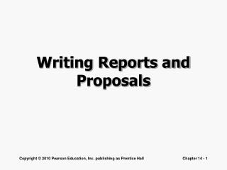 Writing Reports and Proposals