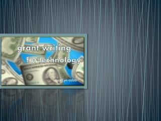 grant writing  for technology