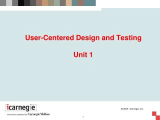User-Centered Design and Testing Unit 1