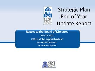 Strategic Plan  End of Year  Update Report