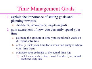 Time Management Goals