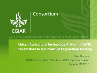 African Agriculture Technology Platform (AATP): Presentation to Horizon2020 Preparation Meeting