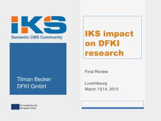 IKS impact on DFKI research