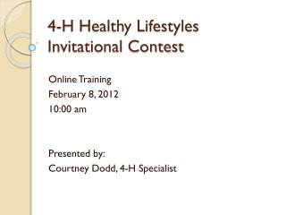 4-H Healthy Lifestyles Invitational Contest