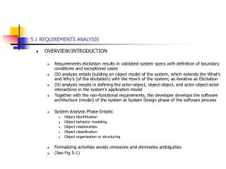 5.1 REQUIREMENTS ANALYSIS
